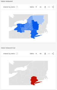 Google Trends Interest by Region